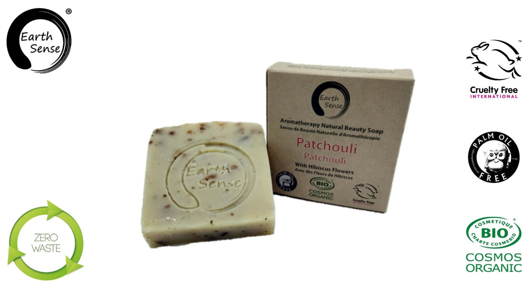 Organic Solid Soap - Patchouli with Hibiscus Flowers 100g