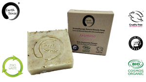 Organic Solid Soap - Jasmine with Chamomile Flowers 100g