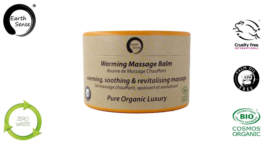 Organic Warming Massage Balm 100ml - For Face, hands, arms & whole body