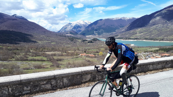 On the road with bike and skis, for a good cause. By Michele Maggioni