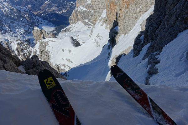 Steep skiing in the bowels of the Brenta by Silvestro Franchini