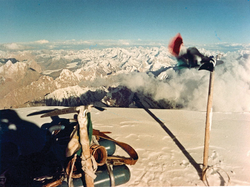 1954, k2, Achille Compagnoni for the first time on top of K2