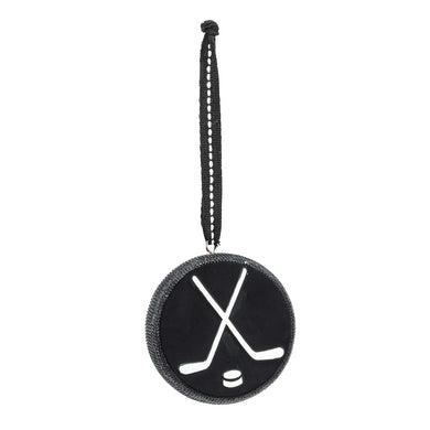 Hockey Net & Puck Christmas Ornament