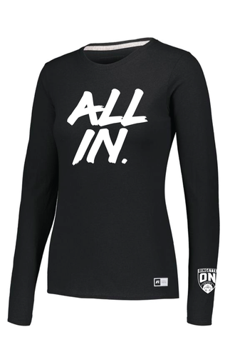 All In Ladies Ringette Ontario Long Sleeve Tee