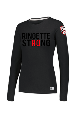 Ringette Strong Ladies Long Sleeve Tee