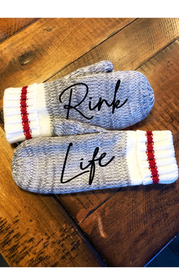Rink Life Message Mittens