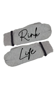 Rink Life Grey Message Mittens