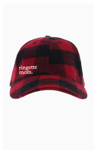 Ringette Mom Buffalo Check Baseball Hat
