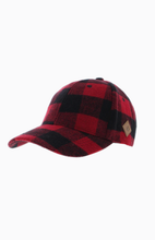 Load image into Gallery viewer, Ringette Mom Buffalo Check Baseball Hat
