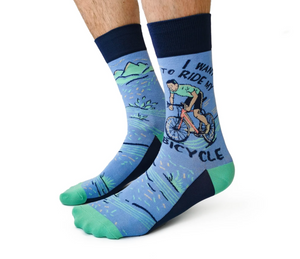 """I want to ride my bicycle"" Men's Socks"