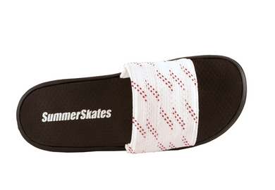 Summer Skate Lace Sandal- white lace with red tracer