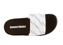 Load image into Gallery viewer, Summer Skate Lace Sandal- white lace with blue tracer