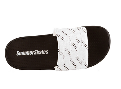 Summer Skate Lace Sandal- white lace with black tracer