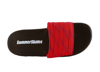 Summer Skate Lace Sandal- red lace with blue tracer