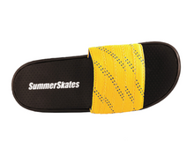 Load image into Gallery viewer, Summer Skate Lace Sandal- yellow lace with blue tracer