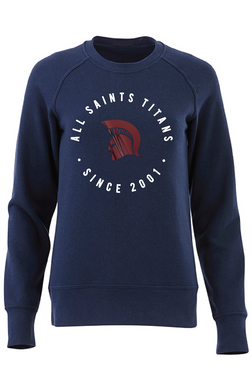 All Saints Raglan Navy Crewneck sweatshirt-Ladies
