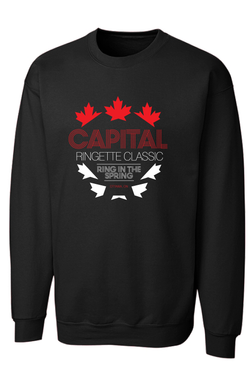 Capital Ringette Classic Game Day Black Crewneck sweatshirt-ADULT