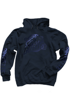 Load image into Gallery viewer, Guelph Predator Ringette Midnight Youth Hoodie- Navy