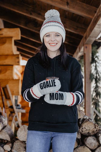 Goalie Mom Message Mittens