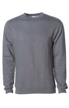 Load image into Gallery viewer, Premium Gunmetal Heather Crew Neck Sweatshirt