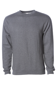 Premium Gunmetal Heather Crew Neck Sweatshirt