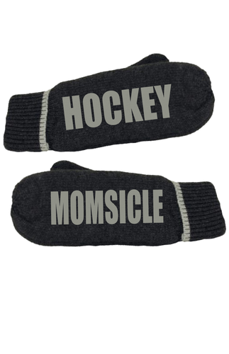 Hockey Momsicle Message Mittens