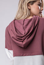 Load image into Gallery viewer, Beauty Hoodie-Mauve & Ivory