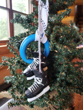 Load image into Gallery viewer, Ringette Skates & Ring Christmas Ornament