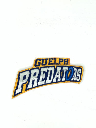 Guelph Predators Ringette Iron On Patch- Wording only