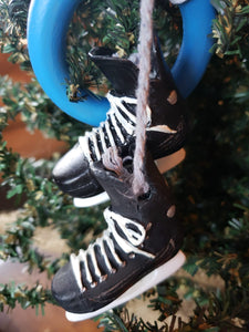 Ringette Skates & Ring Christmas Ornament