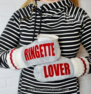 Ringette Custom Message Mittens
