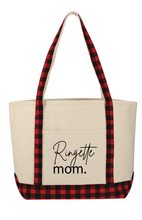 Load image into Gallery viewer, Ringette Mom Cotton Tote