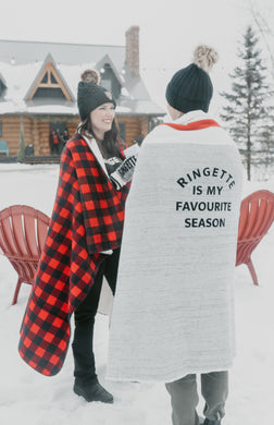 Ringette Is my Favourite Season Cabin Throw