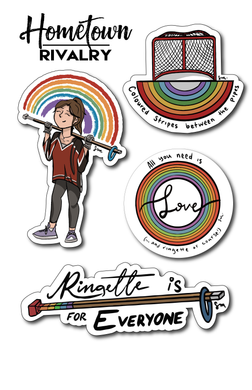 Ringette Pride Sticker Pack