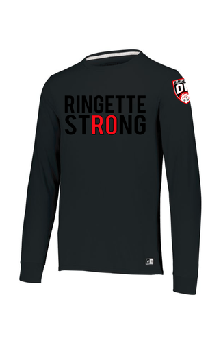 Ringette Strong Mens Long Sleeve Tee