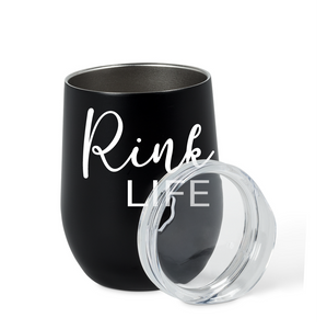 Rink Life Insulated Wine Tumbler: Black