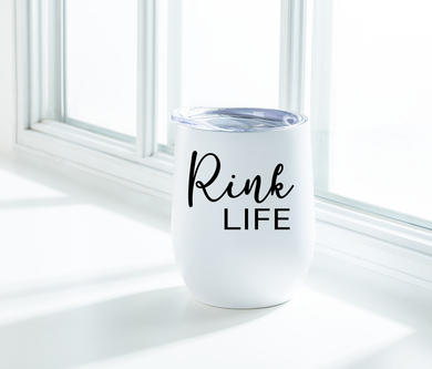 Rink Life Insulated Wine Tumbler: White