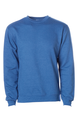 Premium Royal Heather Crew Neck Sweatshirt