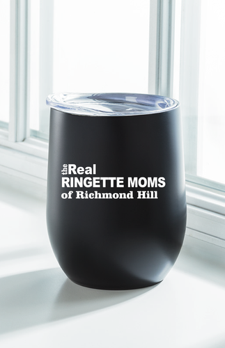The Real Moms Insulated Wine Tumbler: Black