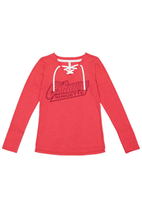 Load image into Gallery viewer, Oshawa Ringette Victory V neck Lace Up Long Sleeve Top