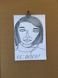 Badly Drawn CC:DISCO! - Original Drawing - A3.