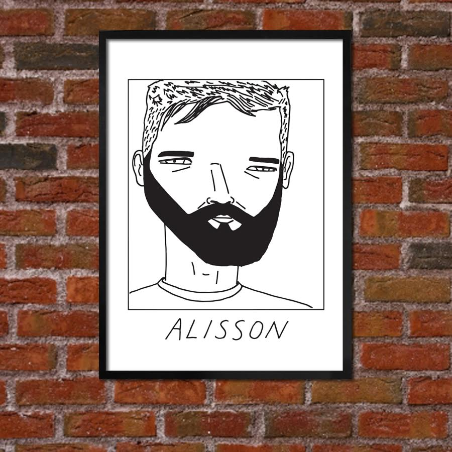 Badly Drawn Alisson - Liverpool F.C. Premier League Champions - Poster