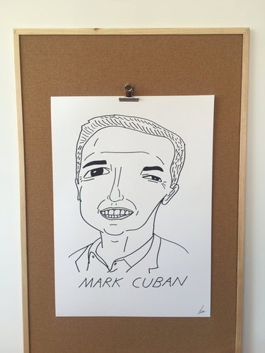 Badly Drawn Marc Cuban - Original Drawing - A2.