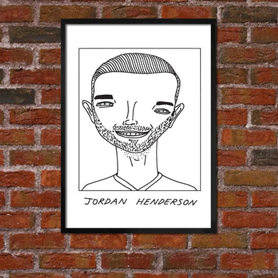 Badly Drawn Jordan Henderson - Liverpool F.C. Premier League Champions - Poster