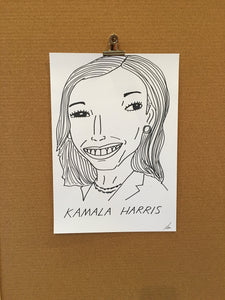 Badly Drawn Kamala Harris - Original Drawing - A3.