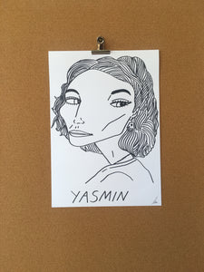 Badly Drawn Yasmin - Original Drawing - A3.