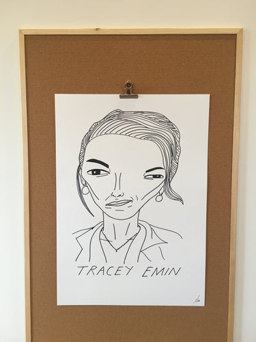 Badly Drawn Tracey Emin - Original Drawing - A2.