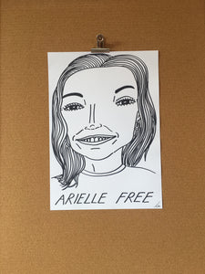Badly Drawn Arielle Free - Original Drawing - A3.