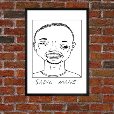 Badly Drawn Sadio Mane - Liverpool F.C. Premier League Champions - Poster