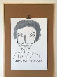 Badly Drawn Margaret Atwood - Original Drawing - A2.